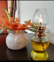 Vintage Clear Glass Metal Kerosene Oil Lamp Lantern Indoor Outdoor Camping Decor