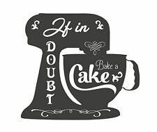 Bake a Cake Typography quote Decorative Vinyl Wall Sticker