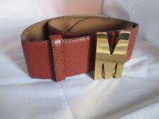 AUTHENTIQUE ceinture MOSCHINO cuir vintage