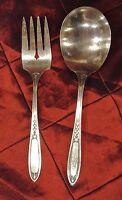 """Vintage Simeon L.& George M. Rogers Company """"Oneida""""Silverplate Salad Set"""