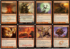 MTG Mono-Red Dragon Deck - Sarkhan Moonveil Crucible Flameblast Magic Gathering