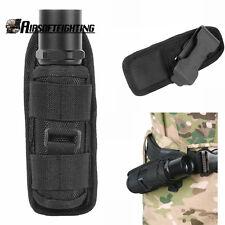 Ultrafire Flashlight Pouch Holster Belt Carry Case Holder with 360 Degrees Black