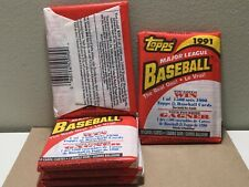 1991 TOPPS BASEBALL*CANADIAN VER*UNOPENED PACKS *10 CARDS PER PACK* 5 Pack LOT