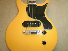 Guitare ANTORIA nouveau Yorker Les Paul Junior jaune avec heavy duty carrry sac
