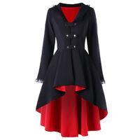 Hot Womens Retro Victorian Back Lace Up peampunk Coat Gothic Corset Jacket Dress
