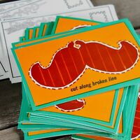 100 VINTAGE MUSTACHE POSTCARDS New Old Stock nos vintage Design FACIAL HAIR VTG