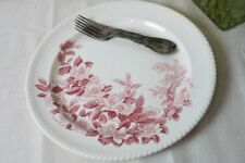 """Windsor Ware Johnson Brothers Apple Blossom Chop Plate Platter Round 12.5"""" Pink"""