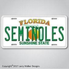 Florida State Seminoles  Aluminum License Plate Tag New