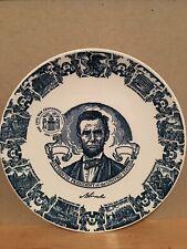"""Lincoln Civil War Centennial Plate Kettlesprings Kilns Alliance, Ohio 10"""""""