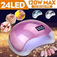 120W Nail Dryer LED UV Lamp Nail Gel Curing Lamp Nail Art Tools Manicure H L *