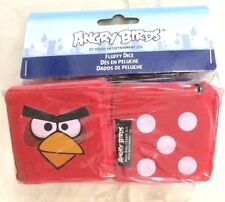 ANGRY BIRDS OFFICIAL RED FLUFFY DICE CAR VEHICLE TRUCK HANG FROM MIRROR FUZZY!