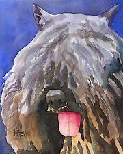 Bouvier Des Flandres Dog 11x14 signed art PRINT RJK