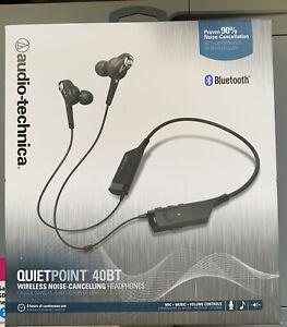 Audio-Technica QuietPoint 40BT Wireless Noise-Cancelling Headphones BRAND NEW