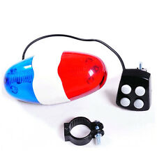 Kids Cycling Bike 6 LEDs Electric Horn 4 Sounds Bicycle Police Siren Lights Top