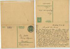 41246 - Ganzsache P 163 - Postkarte - Konstanz 25.6.1927 - ungebrauchte Antwort
