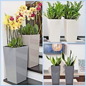 Blumentopf Hochglanz Pflanzgefäß Einsatz Slim Blumenkübel 5 Farben 6 Größen