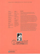 #0328 37c Roy Acuff Stamp #3812 Souvenir Page