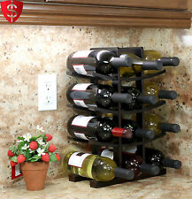 Wooden Wine Rack Bottle Storage Holder Bar Kitchen Liquor Display Shelf Stand