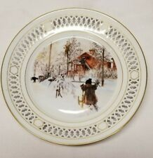 """Carl Larsson Plate Collection- The Yard and Washhouse- 8.5"""" Denmark"""