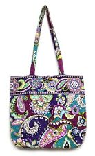 Vera Bradley Heather Shoulder Bag Purple Paisley Floral Quilted Tote Purse