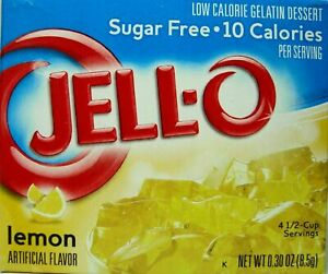 Jell-O Lemon Flavor Sugar Free Gelatin 4 PACK