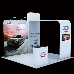 10ft portable custom trade show display booth Set with TV support counter