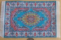 1:12 Scale 10cm x 15.5cm Woven Turkish Rug Tumdee Dolls House Small Carpet P19s