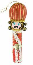 Felt Jingle Bell Nutcracker Mr Christmas 1971 Japan Ornament Holiday Decoration