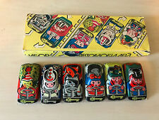 Old Vtg USSR Russian Tin Toy CARS LOT of 6 Unique Designs With Original Box