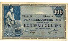"""Netherlands ... P-39 (801b.2) ... 100 Gulden ... 1924 ... *F-VF* Prefix """"AH"""""""