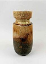 Vintage Scheurich West German Brown Fat Lava Glaze Vase.