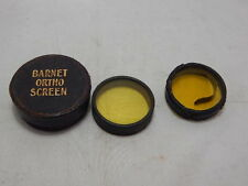 BARNET ORTHO SCREEN YELLOW FILTER ~ 46mm ~ ORIGINAL BOX + EXTRA LENS FOR SPARES