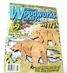 Creative Woodworks & Crafts June 2003 Woodworking Conestoga Wagon Grizzly Bear