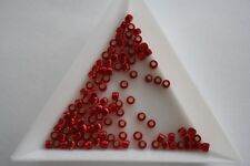Silver Lined Ruby Toho Seed Beads. Size 8 3mm. 300 beads approx. #4181