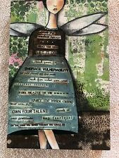 "Let It Go Wall Art, Kelly Rae Roberts Demdaco 8""x12"""