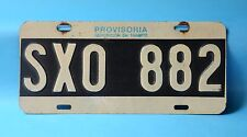 OLD PROVISIONAL CAR LICENSE PLATE FROM ARGENTINA (RA) ARGENTINA REPUBLIC