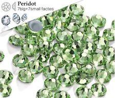 5 Mm Gran Calidad Hot fix/iron sobre Peridot Verde flatback Ronda Hotfix Ss20