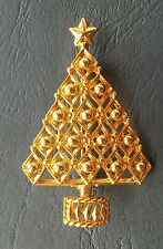 Broche sapin de Noël Sapin doré Christmas Tree Brooch True Vintage