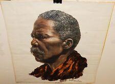 DENIS MURPHY AFRICAN MAN VINTAGE COLOR OFFSET LITHOGRAPH #2