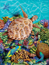 Jigsaw Puzzle Animal Fish Turtle Coral Liquid Flight 300 pieces NEW made in USA