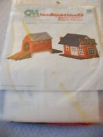 Covered Bridge and Depot Village Needlepoint Plastic Canvas Kit   CM