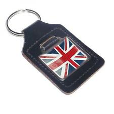 Union Jack Leather KEY FOB CHAIN BAG CHARM British English Flag Present GIFT BOX