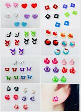5 SET MAGNETIC Clip on Earrings Stud Kids GIRLS clipon Cute Colourful Studs UK