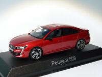 RARE Peugeot 508 GT Berline de 2018  Rouge Ultimate au 1/43 de NOREV 4758201