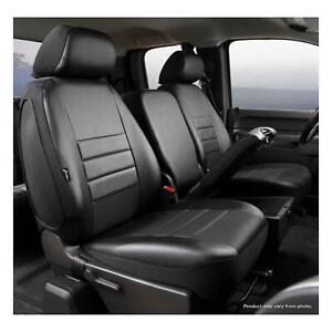Fia SP88-27 Black Custom Fit Front Seat Cover Split Seat 40//20//40 Black Poly-Cotton,