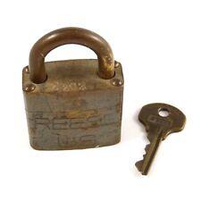 Vintage REESE US Military Padlock w/ Original Matching Key #Z202