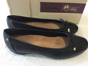 """Clarks Artisan black pumps """"Candra Light"""" uk 5.5D/39 with bow"""
