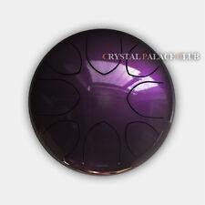 "10"" Steel Tongue Drum/Tank Drum (Bag included)-C Major Natural Scale Purple"