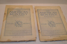 Vintage Set of 2 1906 The American Monthly Magazines - Daughters of Am Rev.