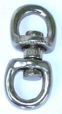 Double Swivel Hook Eye Hoop Clasp Clips Connectors 23mm Outside Dia Zinc Alloy